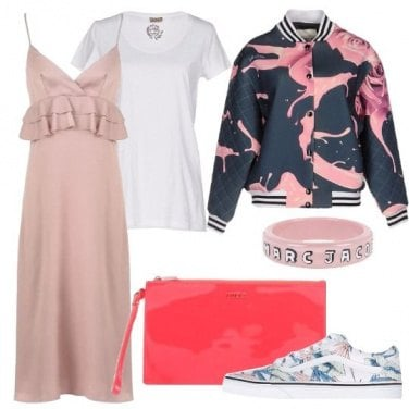Outfit Bomber e slip dress