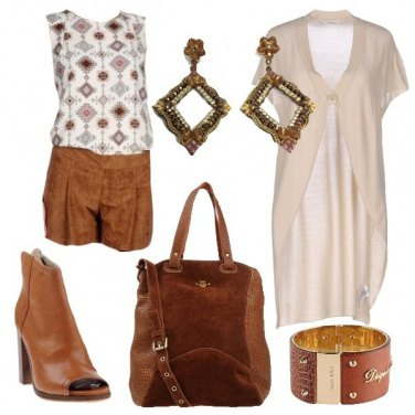 Outfit Color caramello