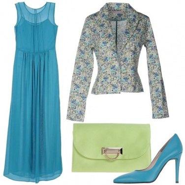 Outfit Verde e azzurro