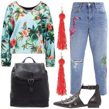 Outfit Un tocco tropicale