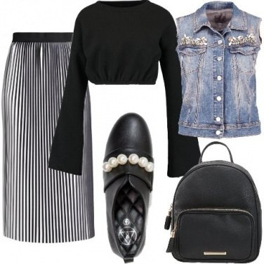 Outfit Plissè glamour
