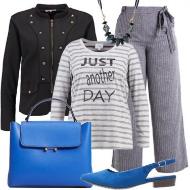 Outfit Rallegriamo il grigio