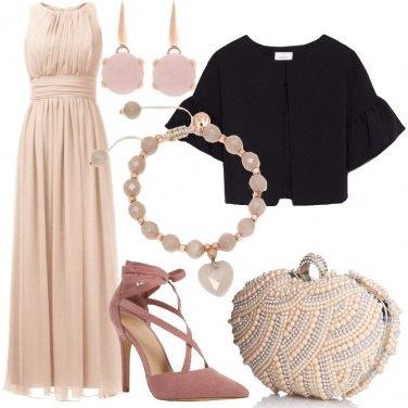 Outfit Principessa in rosa e nero