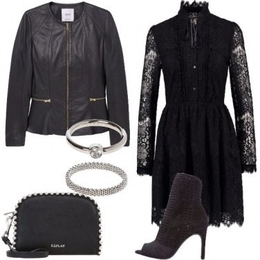 Outfit Il pizzo nero