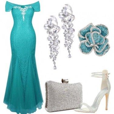 Outfit Cerimonia con sirena
