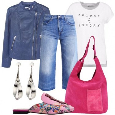 Outfit Moderna con le ciabatte di tendenza