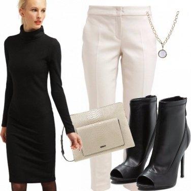 Outfit Il vestito con pantalone , in o out?