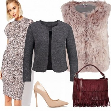 Outfit Pink&grey
