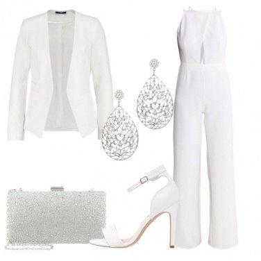 Outfit Candore e tocchi argento