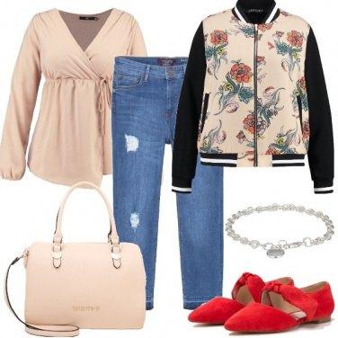 Outfit Quel tocco di rosso