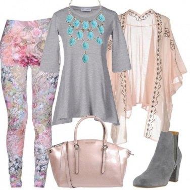 Outfit I leggings a fiori