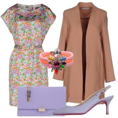 Outfit Fori, nude e lilla