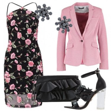 Outfit Fiori e rouches