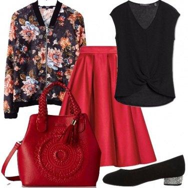 Outfit Tacco comodo e brillante