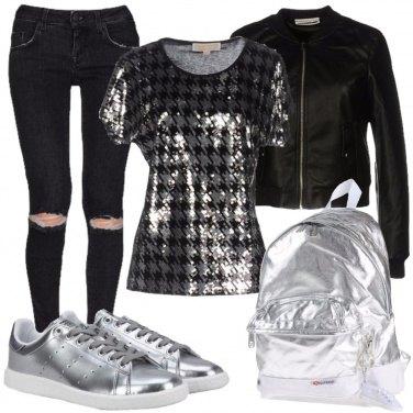 Outfit Nero e argento