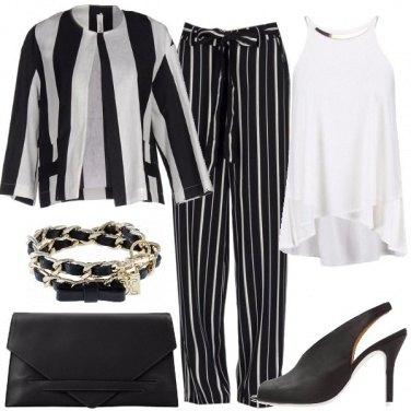 Outfit Mix di gessato