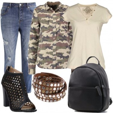 Outfit Camicia camouflage