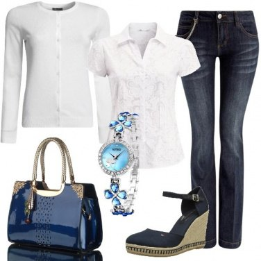 Outfit Bianco e jeans