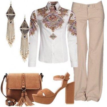 Outfit La camicia con stampa etnica