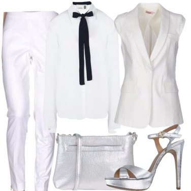 Outfit Bianco e silver
