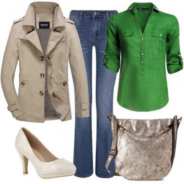 Outfit Lino verde