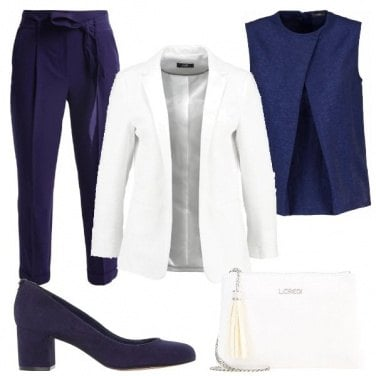 Outfit Bicolore nel tailleur