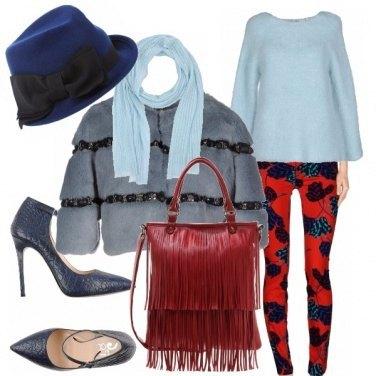 Outfit Rosso e pastello