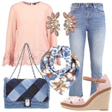 Outfit In rosa e denim