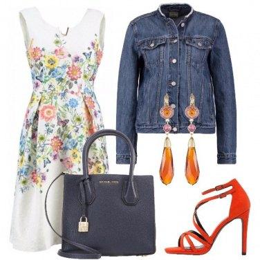 Outfit In bianco a fiori