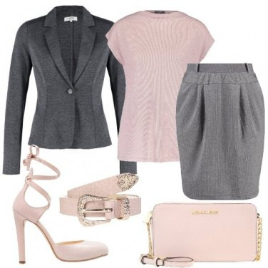 Outfit Tailleur in jersey melange