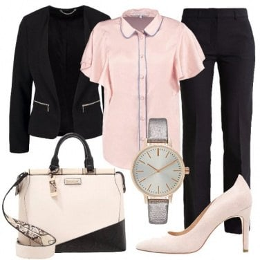 Outfit Tailleur in rosa