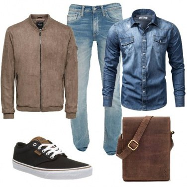 Outfit Il bomber in scamosciato