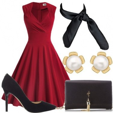 Outfit Elegante in rosso
