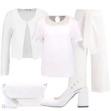 Outfit Il tailleur bianco