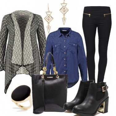 Outfit Long wool cardigan