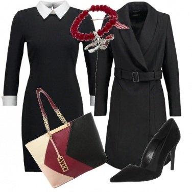Outfit Rosso e nero bon ton