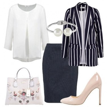 Outfit Righe e fiori