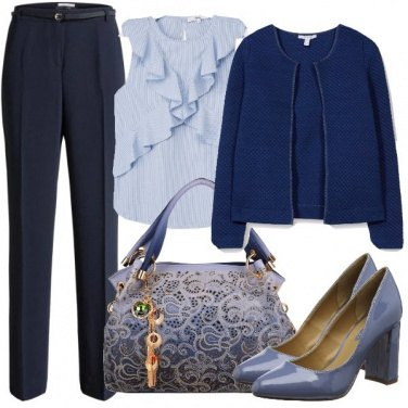 Outfit Volant e pizzo