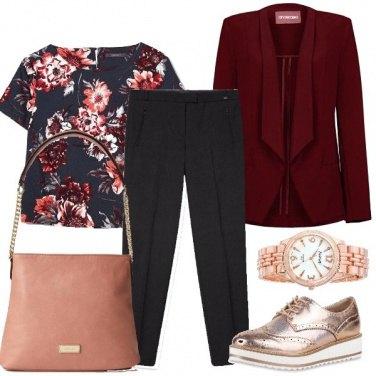 Outfit Il blazer bordeaux
