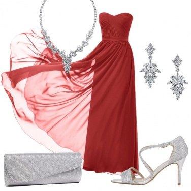 f0f625003f73 Rosso per sognare  outfit donna Chic per cerimonia e serata fuori ...