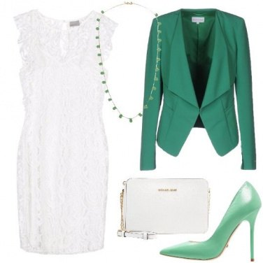 Outfit Fascino bianco e verde
