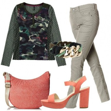 Outfit Delicato camouflage