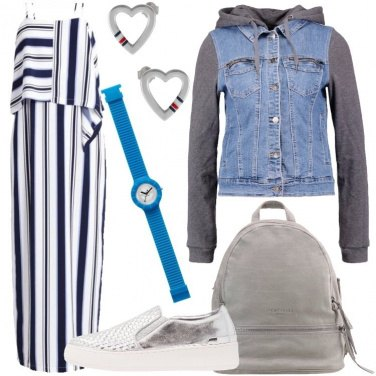Outfit Le sneakers argentate