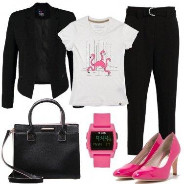 Outfit Fenicotteri rosa shocking