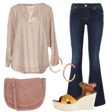 Outfit Jeans e microfantasia