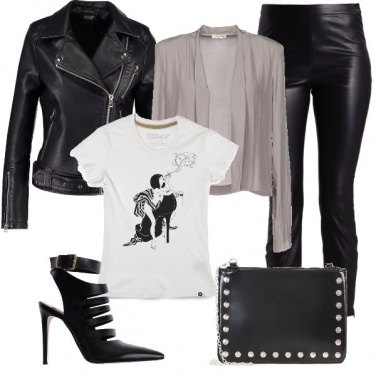 Outfit Essere rock con la t-shirt