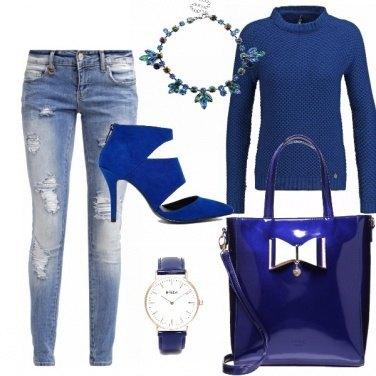 Outfit Non il solito blu...