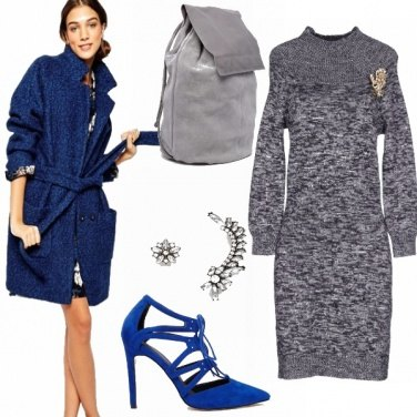 Outfit Grey&blue