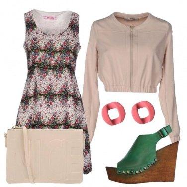 Outfit Vestito microfantasia a fiori