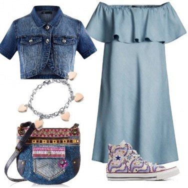 Outfit Jeans nel cuore